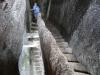 Treppen aus dem Fels gehauen
