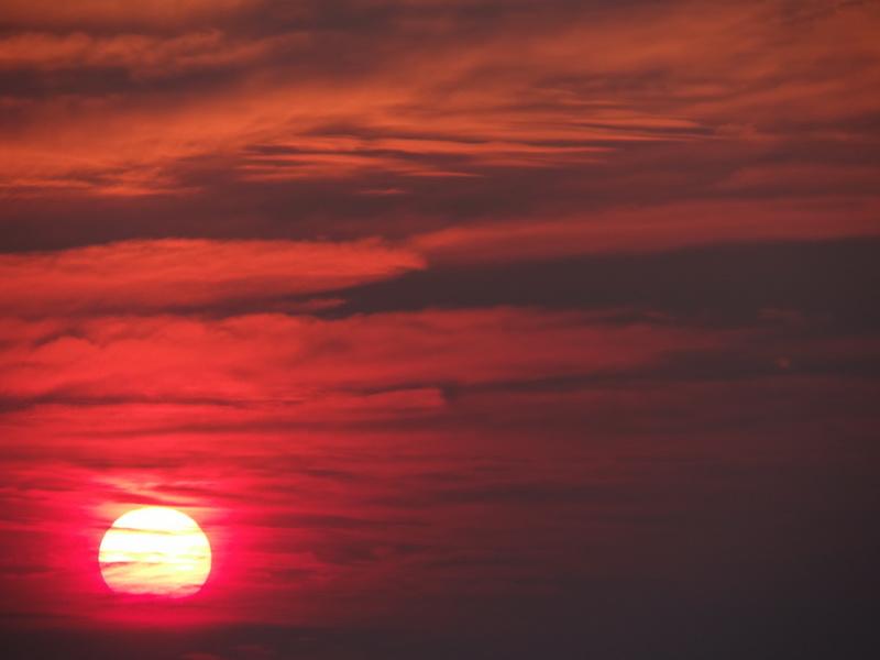gigantischer Sonnenaufgang auf dem Cadillac Mountain
