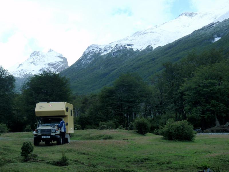Nachtplatz im NP Tierra del Fuego