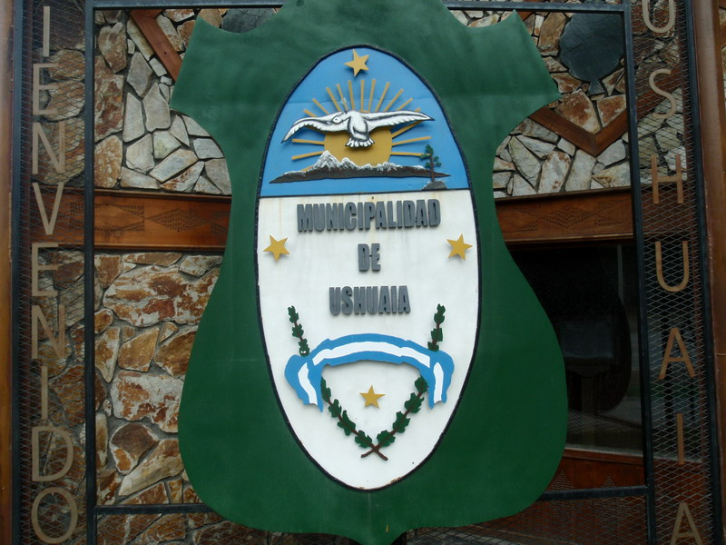 Einfahrt zu Ushuaia