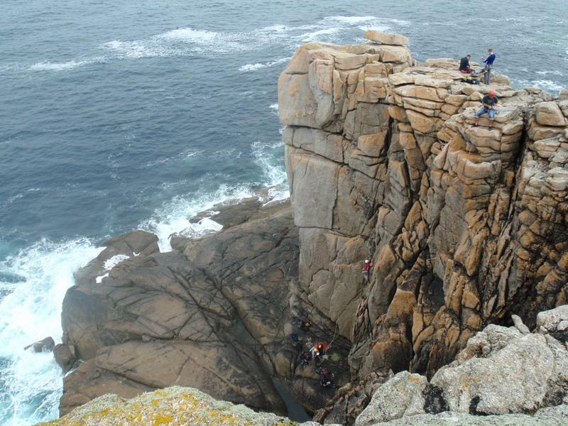Kletterer bei Lands End