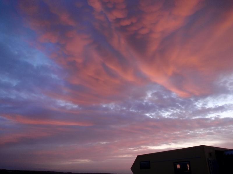 Morgenhimmel in Stonehenge