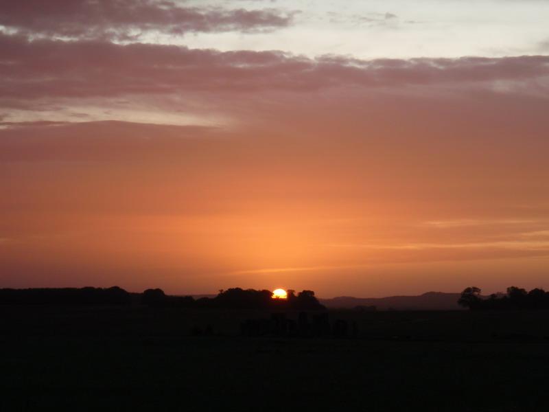 Sonnenaufgang in Stonehenge
