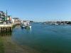 Flussmündung ins Meer bei Littlehampton