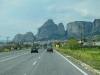 Anfahrt auf Meteora