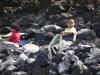 Kinder am Waschen
