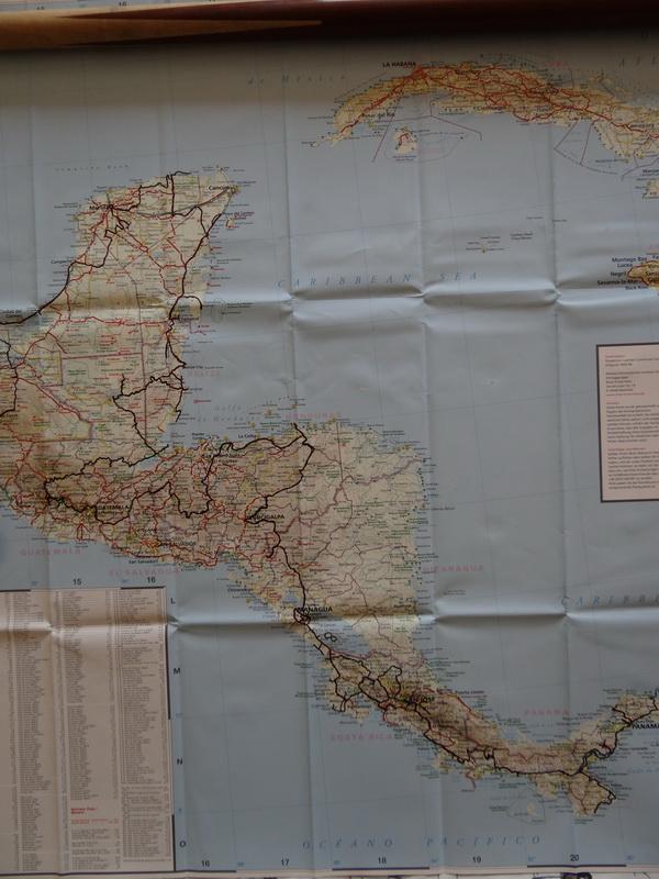 Reiseroute Mittelamerika