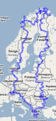 Reiseroute Osteuropa